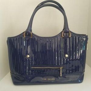 Ted Baker Patent Leather Royal Blue Handbag